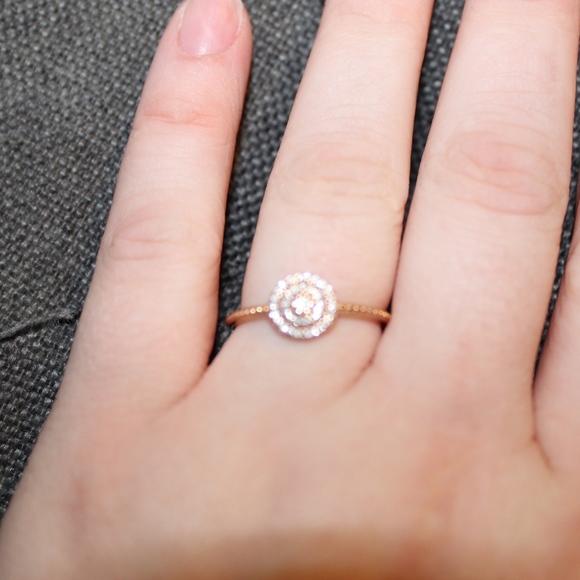 15079bc3e Pandora Jewelry | Radiant Elegance Ring Rose Clear Cz | Poshmark